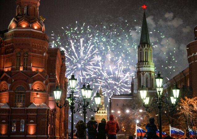 Celebración de Año Nuevo en Rusia (archivo)