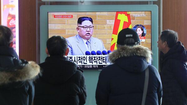 Un programa de noticias sucoreano comenta el discurso de Año Nuevo del líder de Corea del Norte, Kim Jong-un - Sputnik Mundo