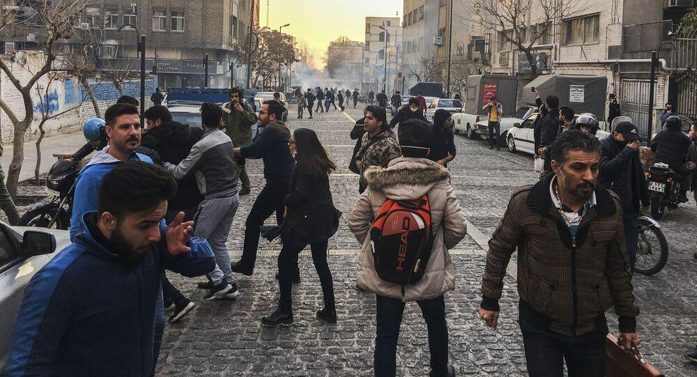 Protestas en Teherán