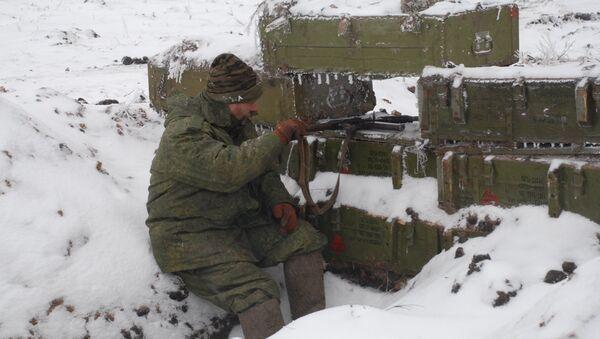Línea de separación en Donbás, Ucrania - Sputnik Mundo