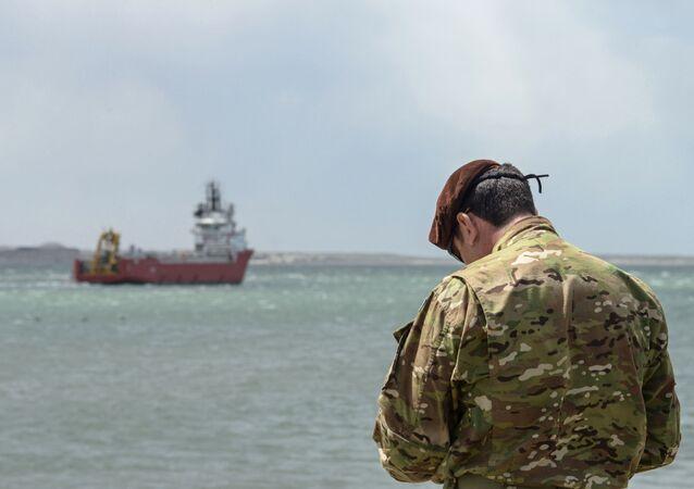 La búsqueda del ARA San Juan (imagen referencial)