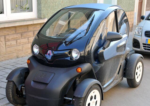 Un Renault Twizy, un popular modelo de auto eléctrico