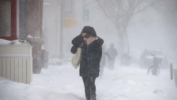 Ola de frío en Nueva York, EEUU - Sputnik Mundo