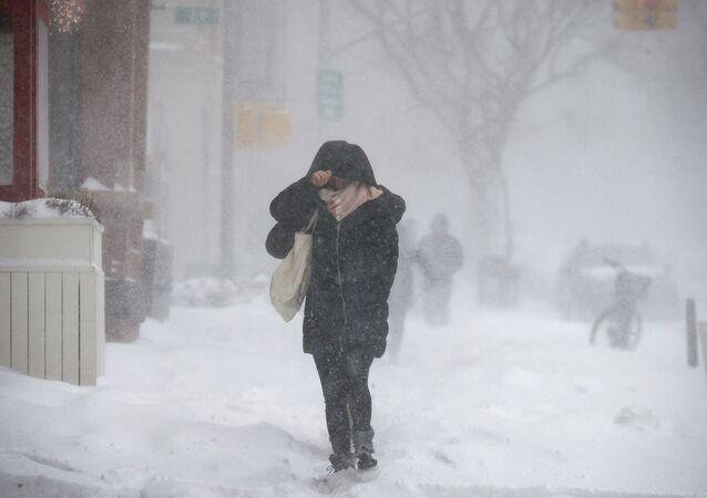 Ola de frío en Nueva York, EEUU