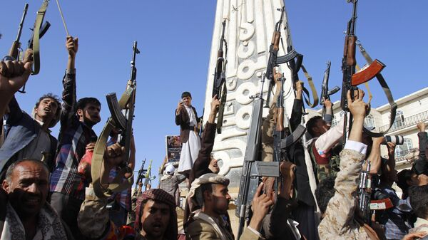 Las fuerzas hutíes en Yemen - Sputnik Mundo