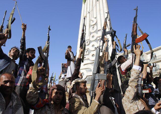 Las fuerzas hutíes en Yemen