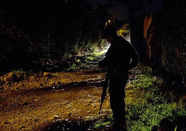 Un policía colombiano, imagen de archivo