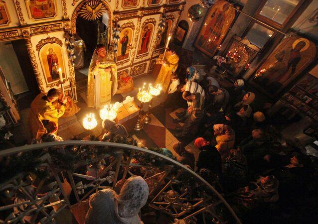Celebración de la Navidad en Rusia