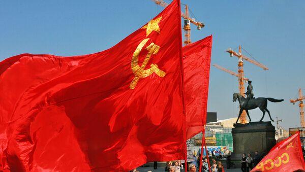 La bandera de la URSS (archivo) - Sputnik Mundo