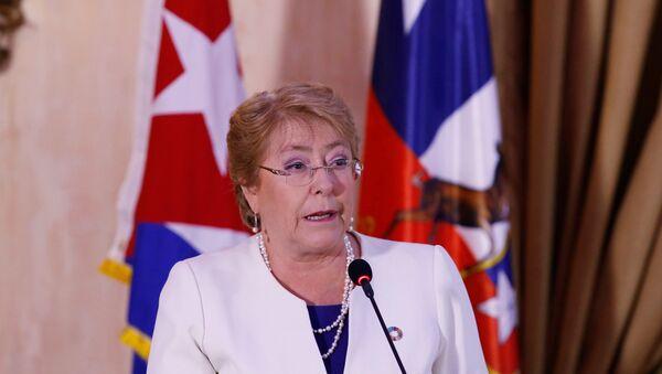 Presidenta de Chile Michelle Bachelet en Cuba - Sputnik Mundo