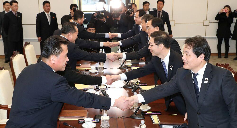 Las negociaciones entre dos Coreas en Panmunjom