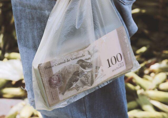 Billetes de bolívares venezolanos (imagen referencial)