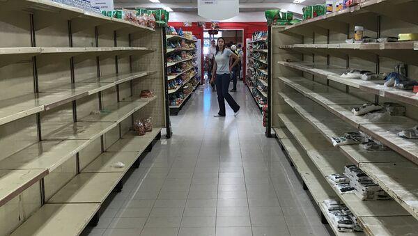 Un supermercado vacío en Venezuela - Sputnik Mundo