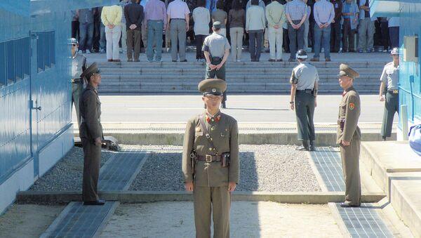 Área de Seguridad Compartida en la zona desmilitarizada de la frontera entre Corea del Norte y del Sur - Sputnik Mundo
