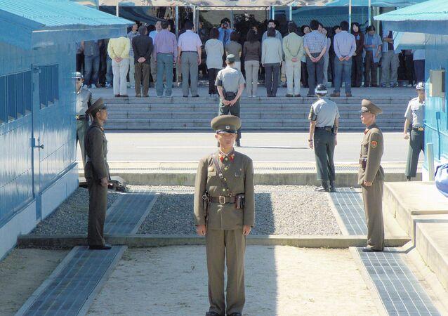 Área de Seguridad Compartida en la zona desmilitarizada de la frontera entre Corea del Norte y del Sur.