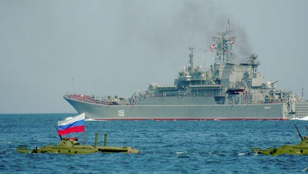El buque de desembarco ruso Yamal (imagen referencial) - Sputnik Mundo