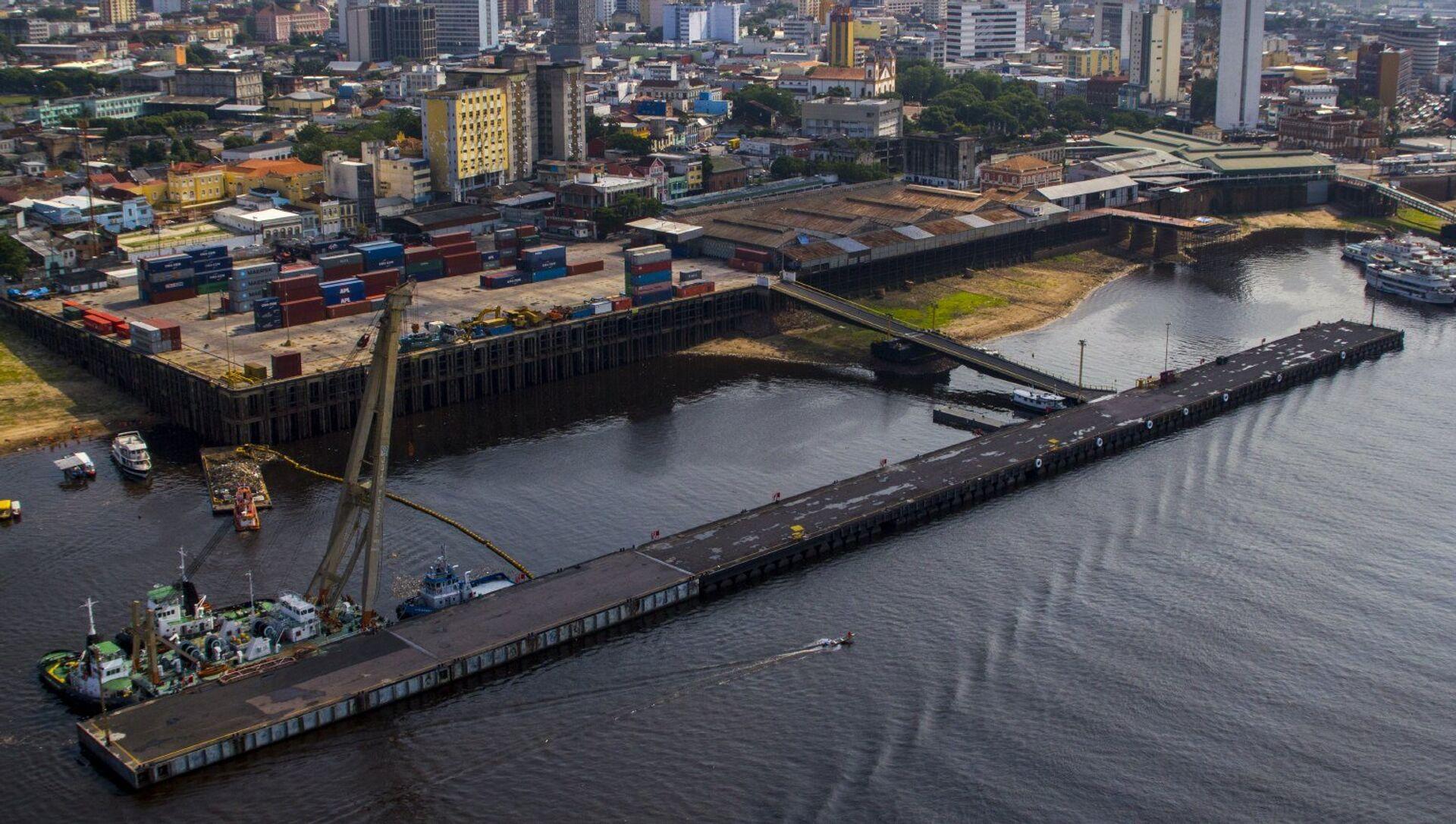 Puerto de Manaos, Brasil, sobre el río Amazonas - Sputnik Mundo, 1920, 10.01.2018