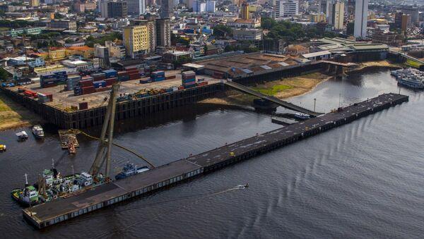 Puerto de Manaos, Brasil, sobre el río Amazonas - Sputnik Mundo