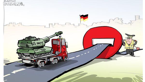 Los tanques estadounidenses se topan con la policía alemana - Sputnik Mundo
