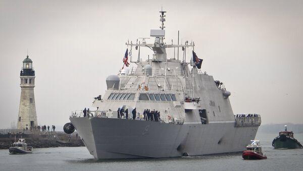 El USS Little Rock, buque de combate litoral de la Armada de EEUU - Sputnik Mundo