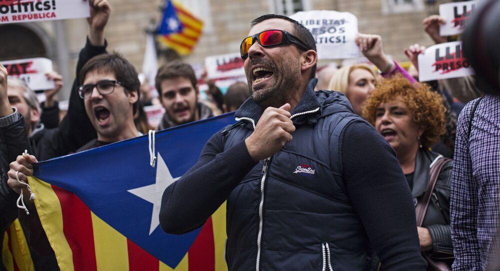 Protestas en Cataluña a favor de liberación de los presos independentistas (archivo)