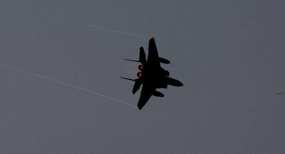 Avión F-15 de Arabia Saudí (archivo)