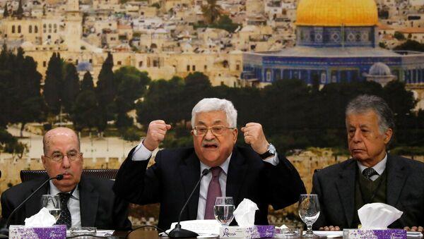 Mahmud Abás, líder palestino, durante la reunión del Consejo Central Palestino (CCP) de la OLP - Sputnik Mundo