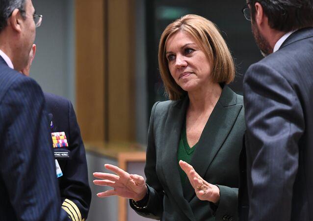 María Dolores de Cospedal, la ministra de Defensa de España (archivo)