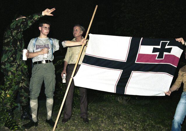 Militantes del movimiento Ciudadanos del Reich (archivo)