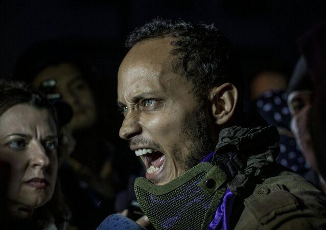 Óscar Pérez, piloto del helicóptero que atacó el Tribunal Supremo de Venezuela (archivo)