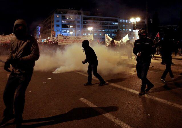 Disturbios en Atenas, la capital de Grecia