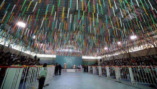 La cárcel femenina de San Joaquin en Santiago durante la visita del Papa Francisco - Sputnik Mundo