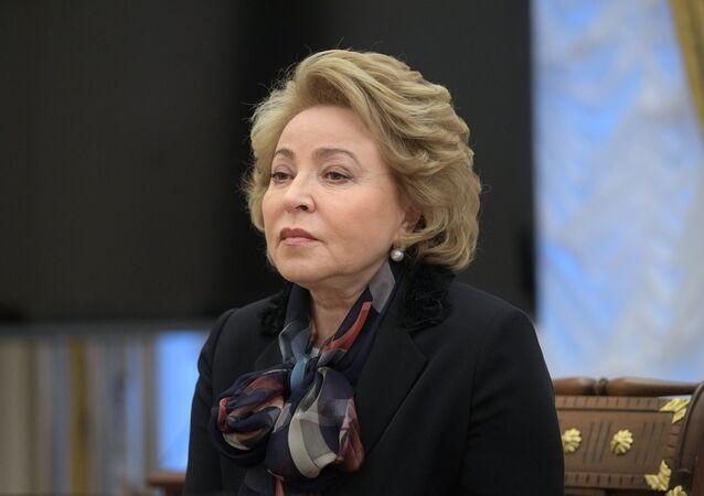 Valentina Matvienko, presidenta del Consejo de la Federación (Senado) ruso (archivo)