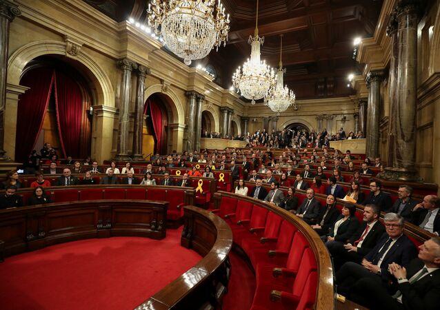 La sesión constitutiva del Parlamento catalán (archivo)