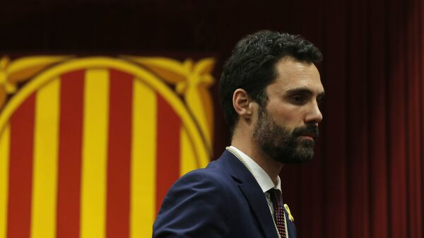 Roger Torrent, nuevo presidente del Parlamento de Cataluña - Sputnik Mundo