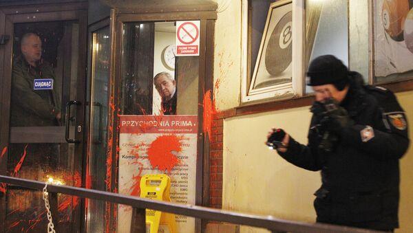 Ataque contra la sede del partido PiS, Varsovia, Polonia - Sputnik Mundo