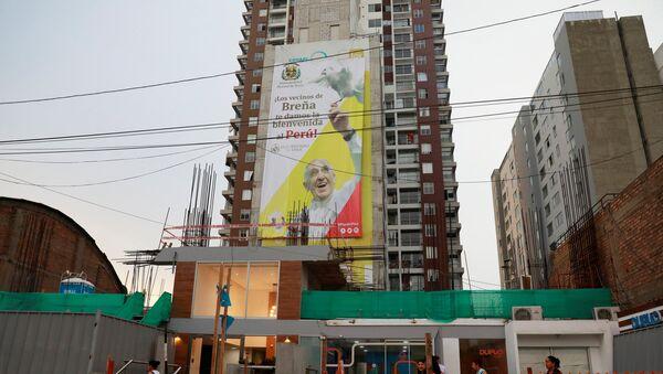 La situación en Lima antes de la visita del Papa, Perú - Sputnik Mundo