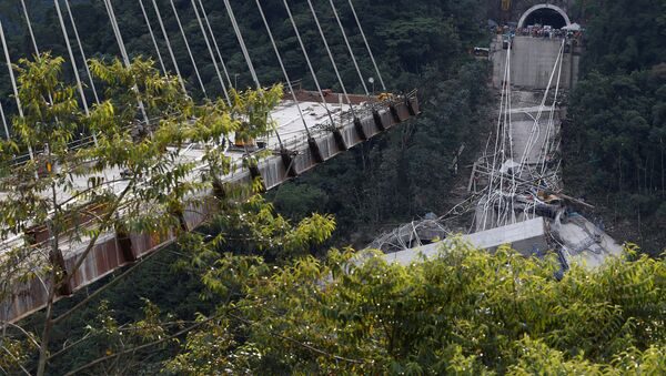 Puente caído en Colombia - Sputnik Mundo