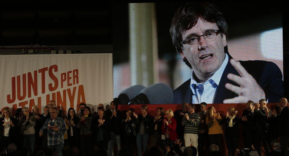Carles Puigdemont, el expresidente del Gobierno catalán