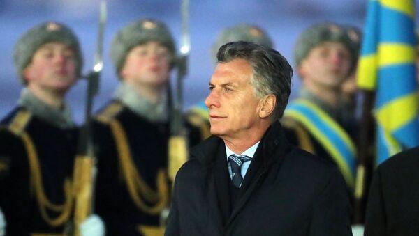 Mauricio Macri, presidente de Argentina, durante su visita a Rusia (archivo) - Sputnik Mundo