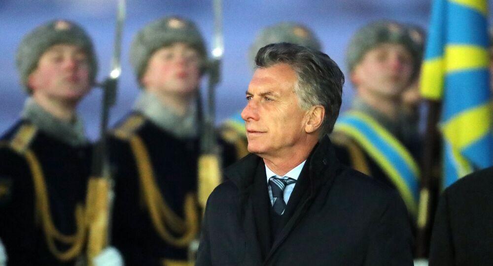 Mauricio Macri, presidente de Argentina, durante su visita a Rusia (archivo)