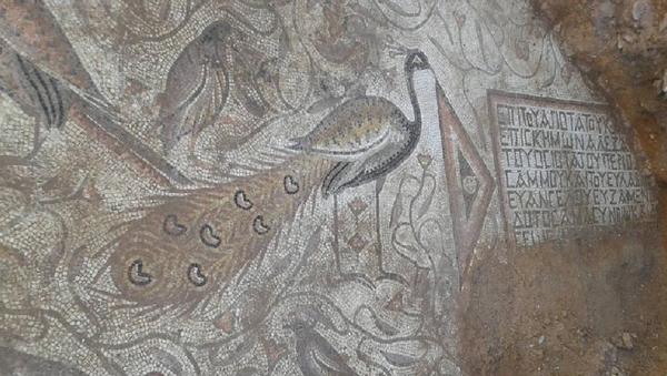 Mosaico de la época bizantina encontrado en Akerbat, Siria - Sputnik Mundo