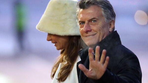 Mauricio Macri, presidente de Argentina, llega a Rusia junto a su esposa Juliana Awada - Sputnik Mundo