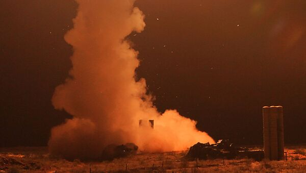 Un lanzamiento de un misil antiaéreo ruso (imagen referencial) - Sputnik Mundo