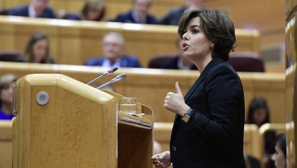 Soraya Sáenz de Santamaría, la exvicepresidenta del Gobierno español - Sputnik Mundo