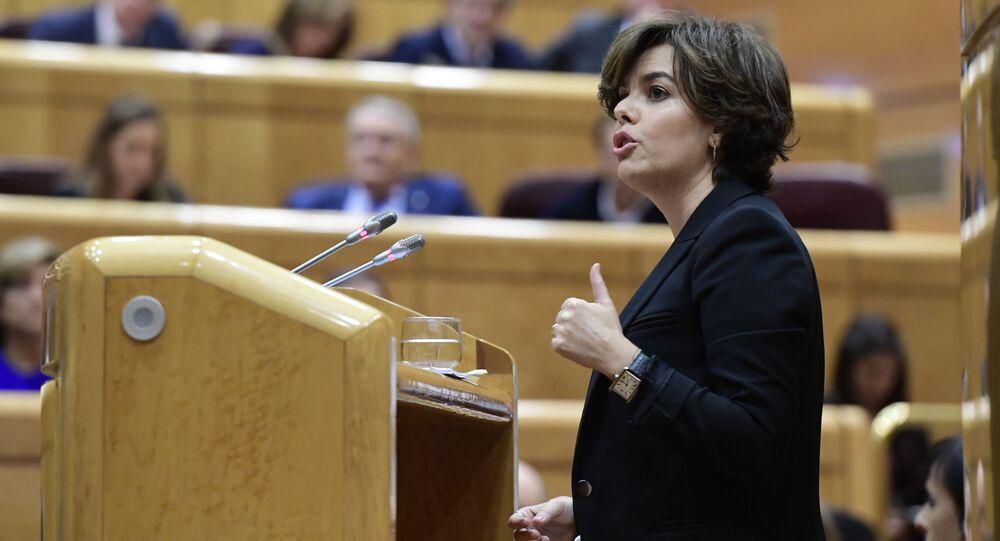 Soraya Sáenz de Santamaría, la vicepresidenta del Gobierno español (archivo)