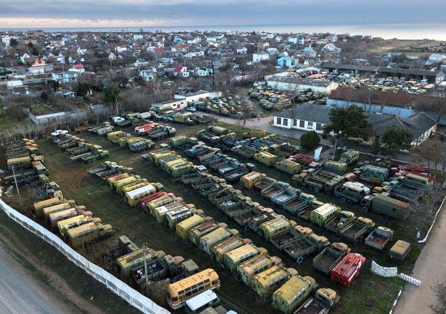 Equipo militar de Ucrania en Crimea, Rusia