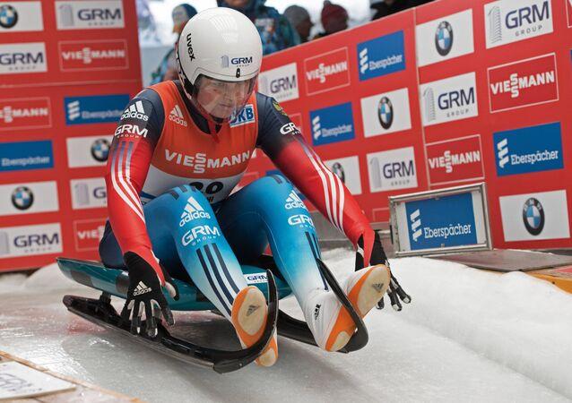 Victoria Démchenko, la competidora rusa en modalidad de trineo