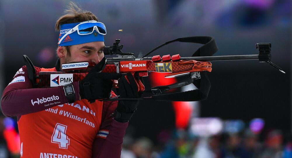 Campeón olímpico ruso en biatlón Antón Shipulin