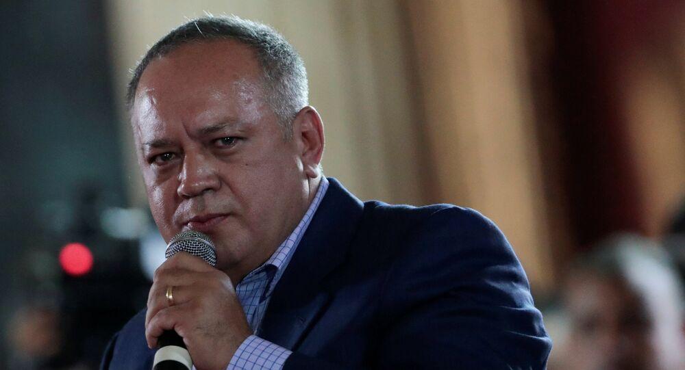 Diosdado Cabello, titular de la Asamblea Nacional (Parlamento) de Venezuela